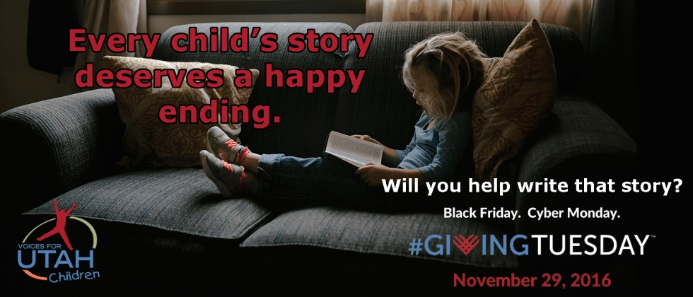 Help us raise our voices for Utah children. #GivingTuesday