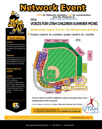 Network Event: Summer Picnic & Bees Baseball, August 31, 2016