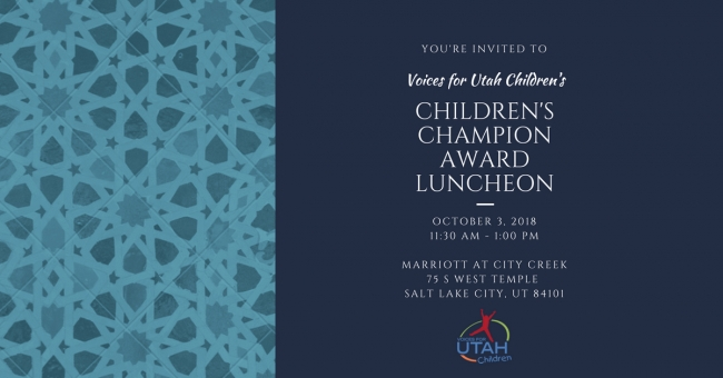 Reserve your Tickets or Sponsor a Table during our Children's Champion Award Luncheon - October 3, 2018